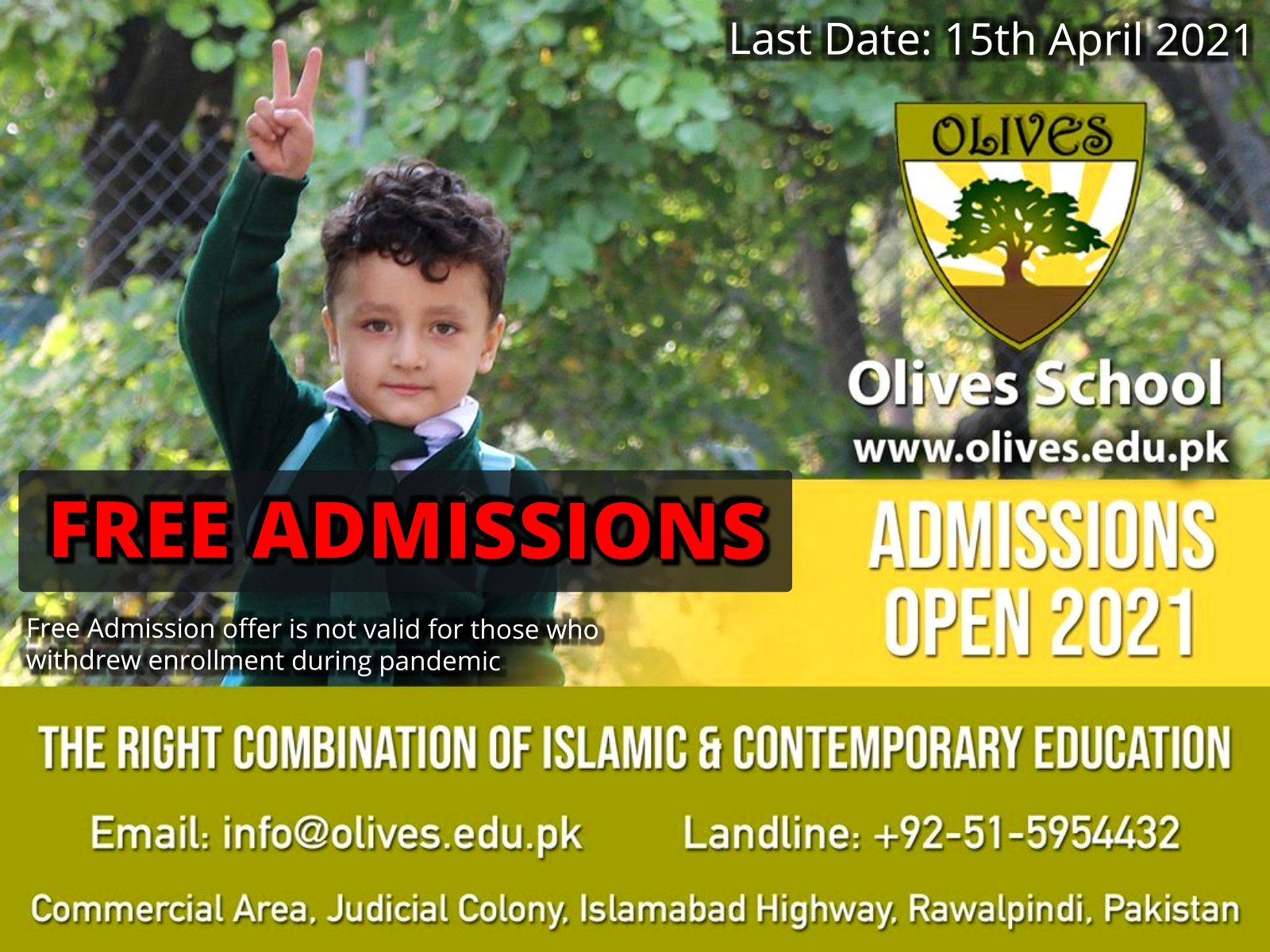 Olives School Admissions 2021